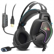 Headset Gamer Fone 7.1 Pc Usb Pc Ps4 Ps3 Notebook Led Rgb 3d