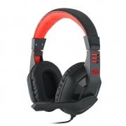 Headset Gamer Redragon Multiplataforma Ares Preto e Vermelho P2 + Adaptador P3