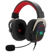 Headset Gamer Redragon Zeus X RGB 7.1 Virtual Preto e Vermelho P2 Com Microfone PC e Consoles