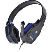 Headset Gamer VX Gaming V Blade P2 Com Microfone Retrátil - Preto e Azul
