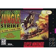 Jungle Strike Super Nintendo 100% Original Americano