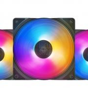 KIT 3x Fan Cooler 120mm Deepcool Rf 120 Fs Three Color Led Pwm 120x25mm