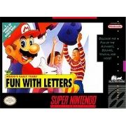 Mario's Early Years Fun with Letters Snes 100% Original Americano