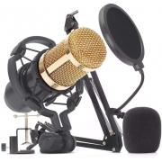 Microfone De Estudio Profissional Condensador Knup Youtuber KP-M0010