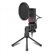 Microfone Gamer Redragon Seyfert Condensador Omnidirecional C/tripé Gm100