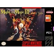 Might and Magic III Super Nintendo 100% Original Americano