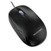 Mouse Ergonômico 1200DPI USB Preto - PC e Notebook