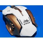Mouse Gamer 3200 Dpi 6 Botões Led Rgb 7 Cores Base Metalica Knup