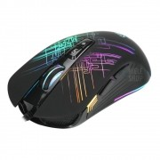 Mouse Gamer 6400 Dpi 7 Botões Led Rgb Xtrike Black lite