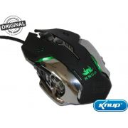 Mouse Gamer Original 3200 Dpi 6 Botões Led Rgb 7 Cores Base Metalica