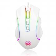 Mouse Gamer Redragon Griffin M607 RGB 7200DPI 6 Botões White Lunar - M607W