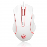 Mouse Gamer Redragon Nothosaur Lunar White 3200dpi 6 Botões Sensor Pixart 3168 - M606w