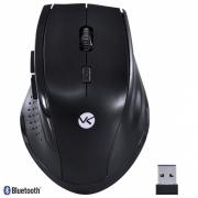 Mouse sem Fio Hibrido 2.4 GHZ + Bluetooth 4.0 1200 DPI Dynamic ERGO Preto USB - DM120 - Vinik PC e Notebook