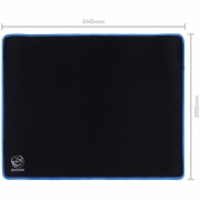 Mousepad Gamer Colors Blue Standard Speed Azul - 360X300MM - PMC36X30BE