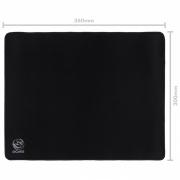 Mousepad Gamer Colors Black Standard Speed Preto - 360X300MM - PMC36X30B