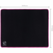 Mousepad Gamer Colors Pink Standard Speed Rosa - 360X300MM - PMC36X30P