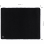 Mousepad Gamer Colors Gray Médio Speed Cinza - 500X400MM - PMC50X40GY