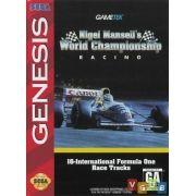 Nigel Mansell's Mega Drive 100% Original Americano Completo