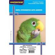 Papel Fotográfico Adesivo A4 Glossy 115g 20 Folhas Inkjet À Prova D´água