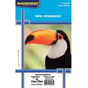 Papel Fotografico 115g Inkjet A4 Glossy 115 À Prova D´água 50 Folhas