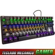 Teclado Gamer Mecanico Profissional Teclas Anti Ghost Switch Blue