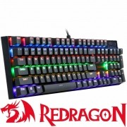 Teclado Gamer Mecanico Redragon Rudra Teclas Anti Ghost Switch LED Rainbow, Switch Outemu Blue, ABNT2 - K565R-1
