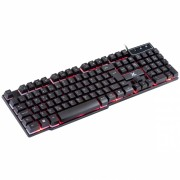 Teclado Gamer Usb Vx Gaming Backlight em 03 Cores Semi Mecânico Double Injection