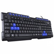 Teclado Gamer Usb Vx Gaming Dragon V2  Preto E Azul