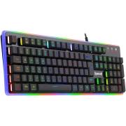 Teclado Semi Mecanico Redragon Dyaus 2 Gamer Usb Anti-Ghosting RGB com 7 cores - K509RGB