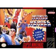 World Heroes Super Nintendo 100% Original Americano