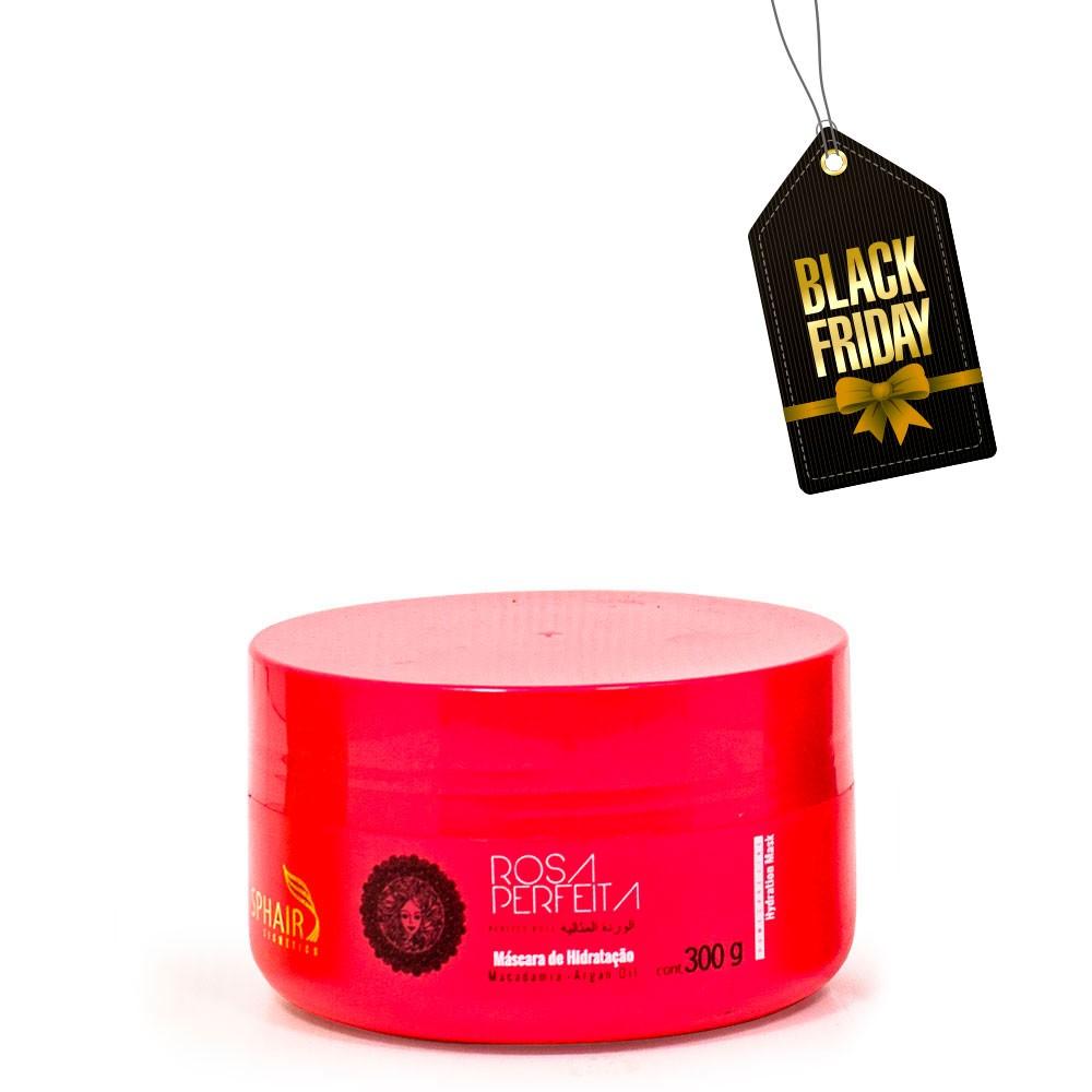 <b>Máscara de Hidratação Rosa Perfeita</b> ideal para todos os tipos de cabelo. Possui ação instantânea, suavizando os fios, deixando os super sedosos, macios e com brilho - 300g