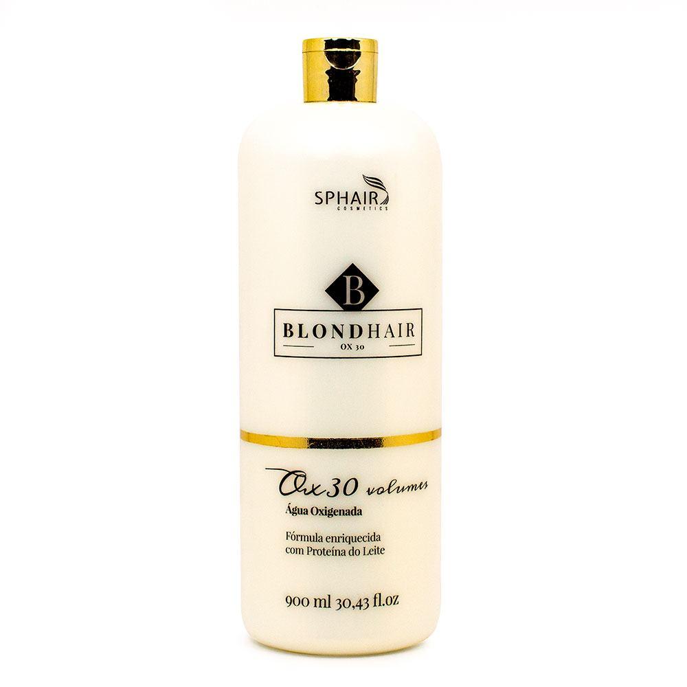 <b>Água Oxigenada 30 volumes BlondHair</b>: Com fórmula estabilizadora e suavemente perfumado, descolore sem prejudicar o fio. Possui agente de hidratação e proteção na composição - 900ml