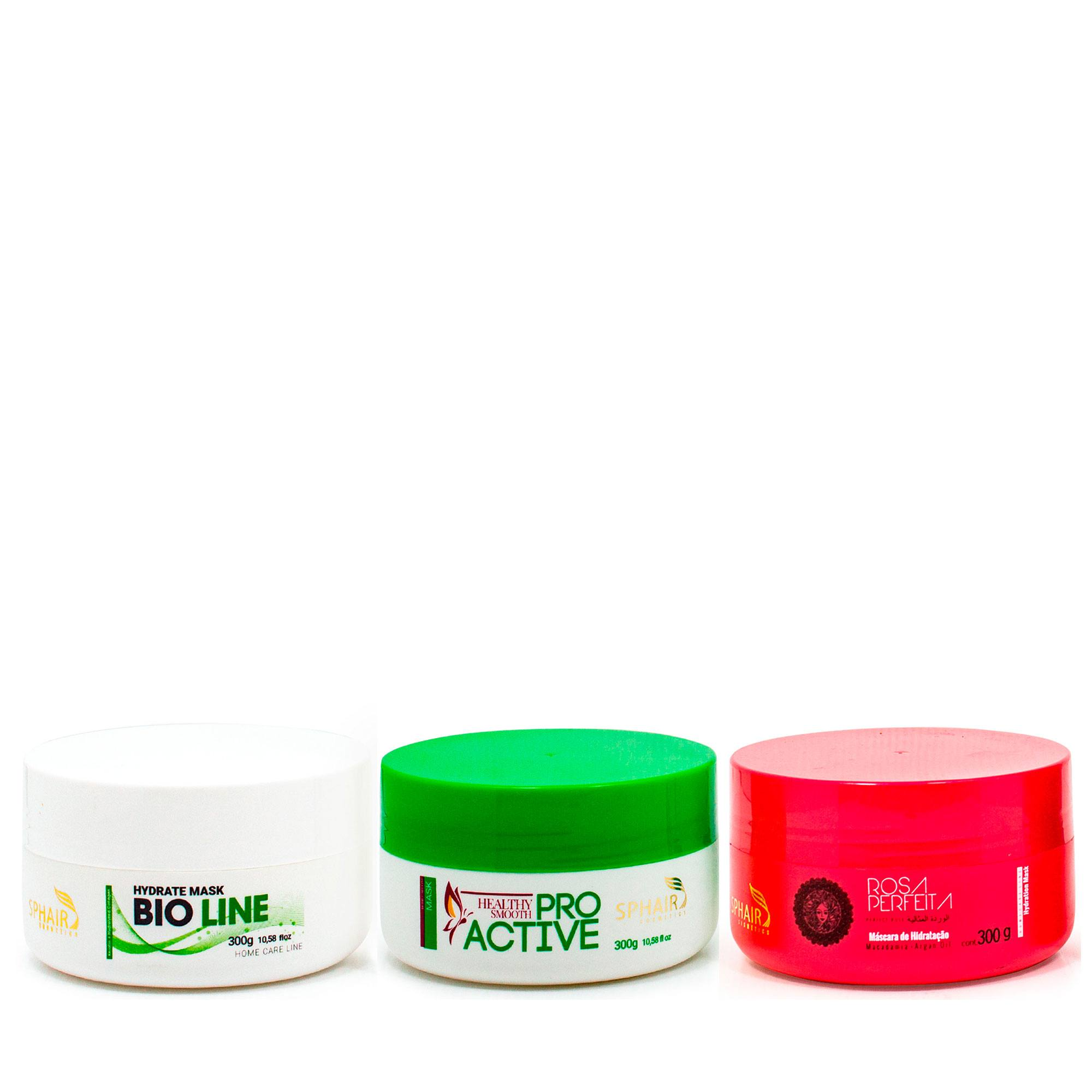 <b>Cronograma capilar da SP Hair Cosmetics</b> - as 3 etapas: Nutrição (ProActive), Hidratação (Rosa Perfeita) e Reconstrução (Bioline) para ter o tratamento certo para os seus fios na sua casa