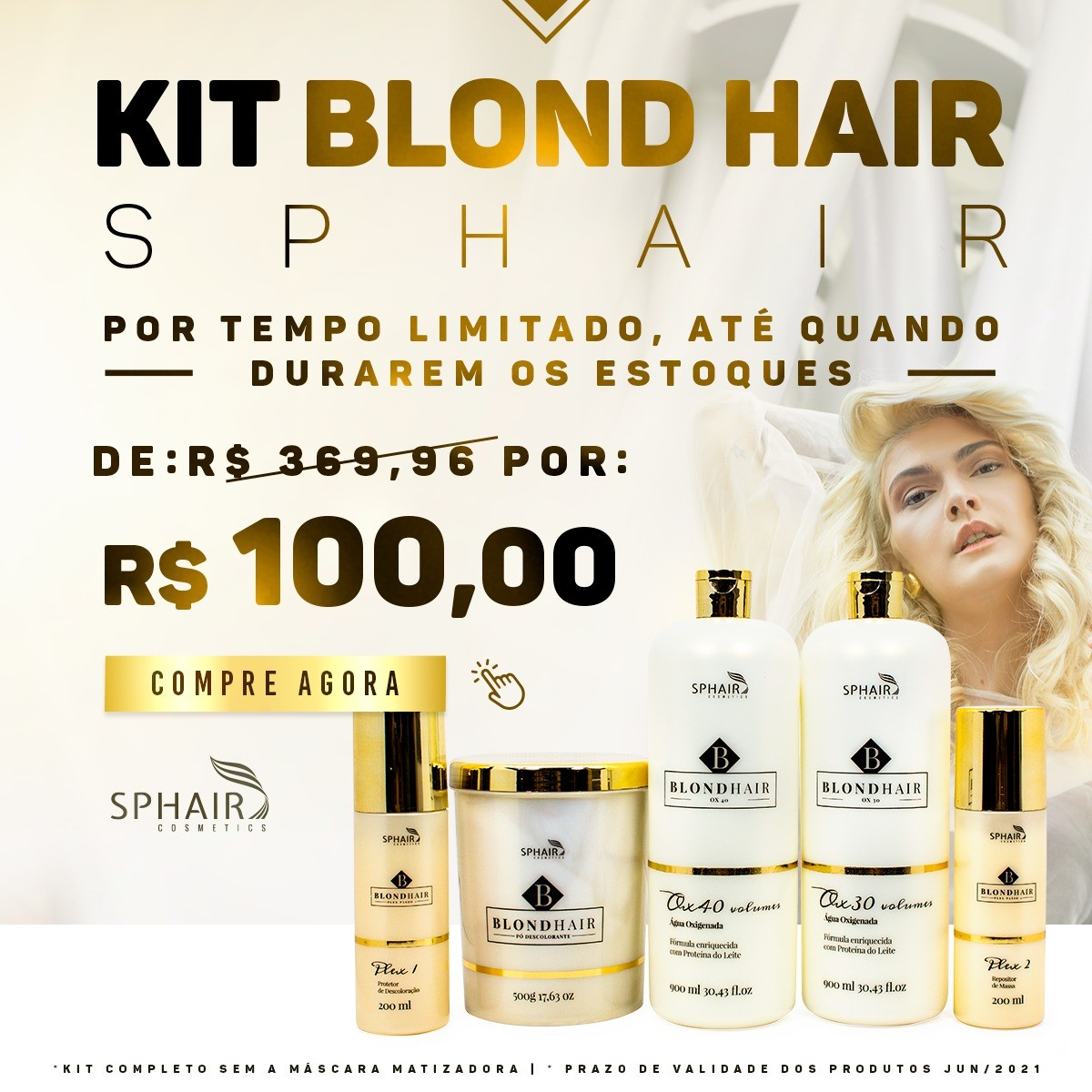 Kit Blond Hair - De R$ 369,96 por R$ 100,00
