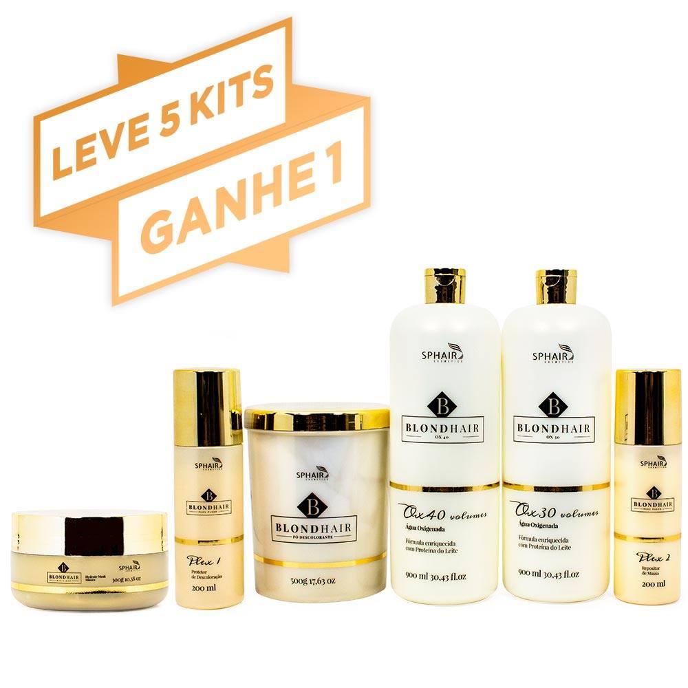 <b>Leve 5 Kits Completos BlondHair e Ganhe Mais 1 Kit Completo</b> - De R$ 2.732,22 por R$ 2.276,85