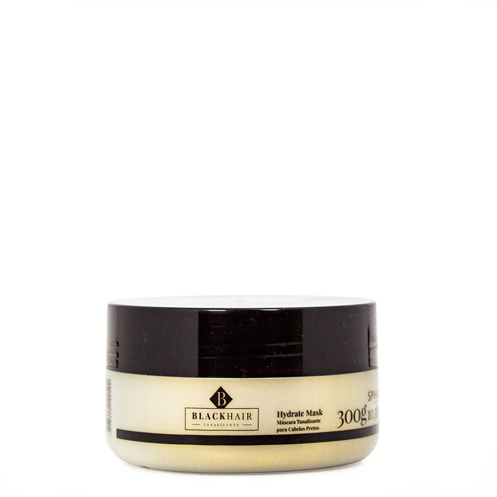 Máscara Tonalizante Iluminadora e Hidratante para cabelos pretos Black Hair. Devolve a pigmentação dos tons escuros reavivando a cor - 300g
