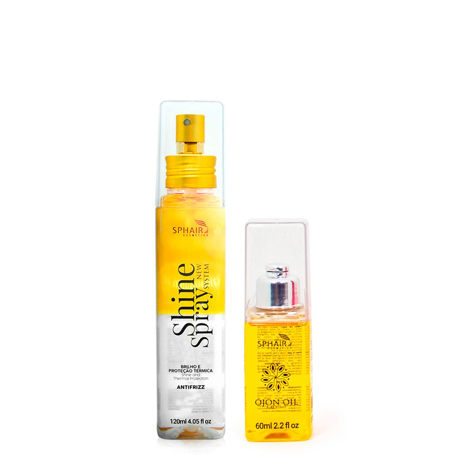 Dupla Milagrosa para recuperar os cabelos ressecados, com frizz e sem brilho-Óleo de Ojon para umectação e Shine Spray finaliza com brilho e proteção