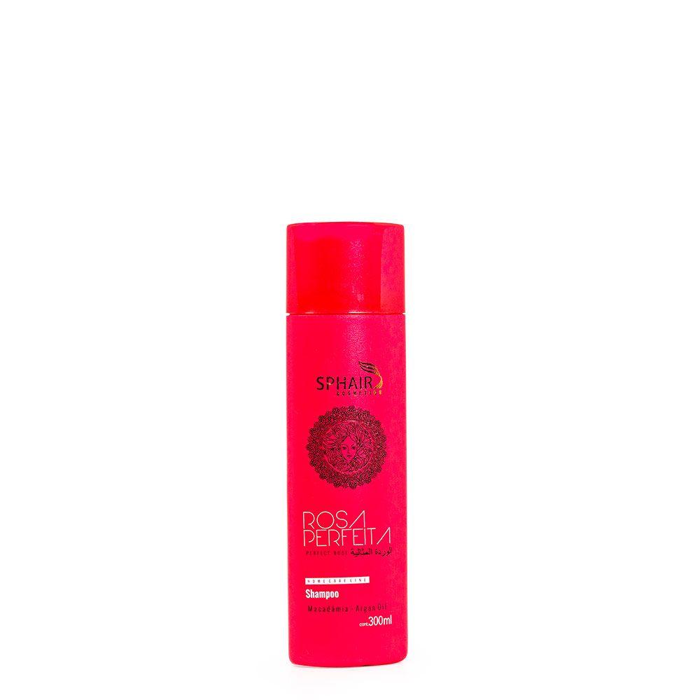 <b>Shampoo Hidrantante Rosa Perfeita</b> ideal para todos os tipos de cabelo. Limpando sem agredir o fio, melhorando a flexibilidade e a maleabilidade dos fios, controlando o frizz - 300 ml