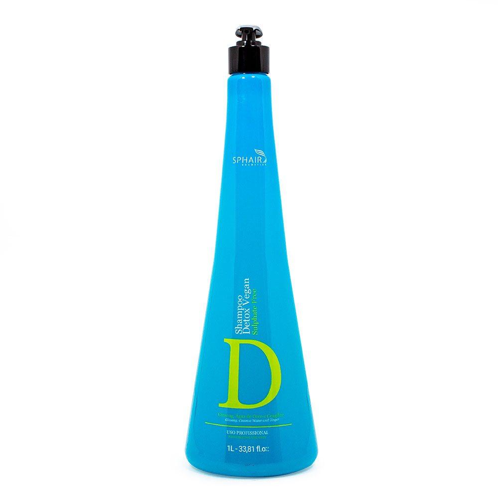 <b>O Shampoo Detox Vegan</b> é um shampoo de limpeza profunda que retira o acúmulo de resíduos, oleosidade e poluição. Ideal para cabelos oleosos e para o preparo do fio para receber tratamento - 1L