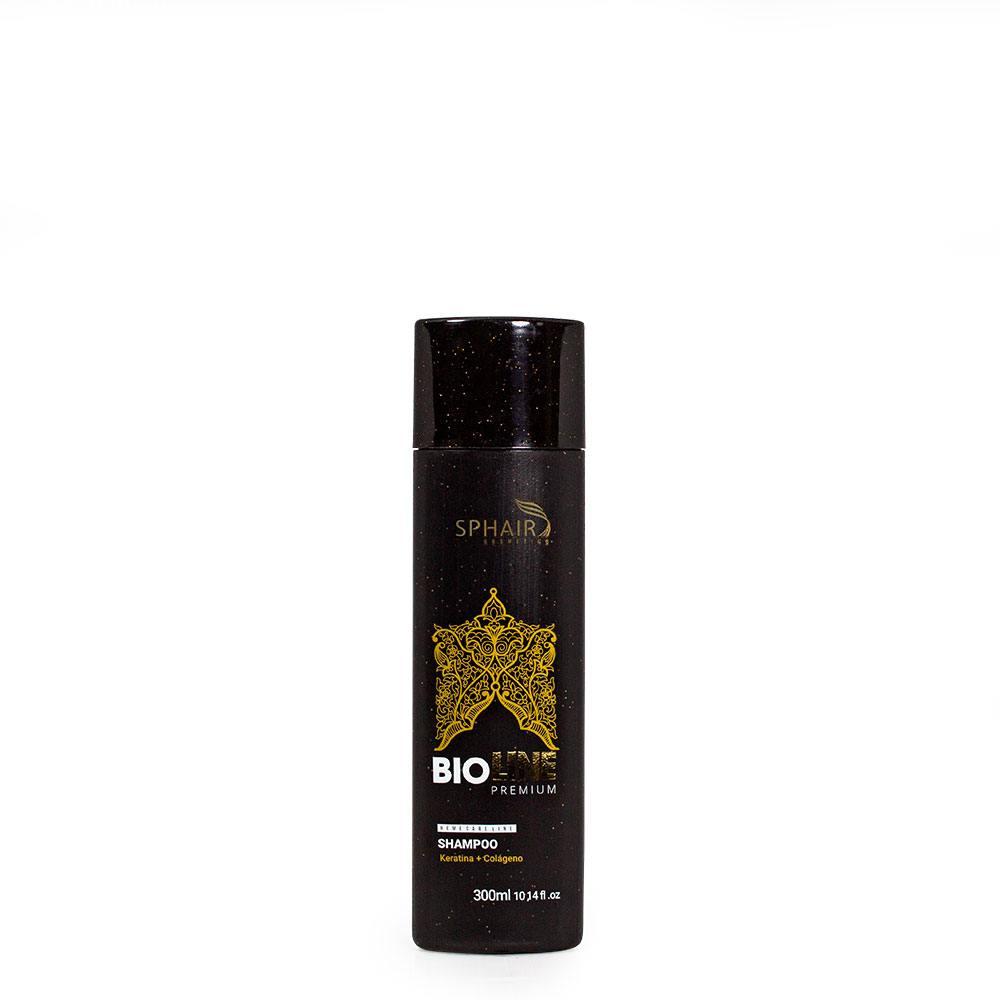 <b>Shampoo Reconstrutor Intenso Bioline Premium</b> é ideal para tratar profissionalmente fios que precisam de um cuidado especial, como loiros e cacheados. Confere força, vitalidade e brilho-300ml