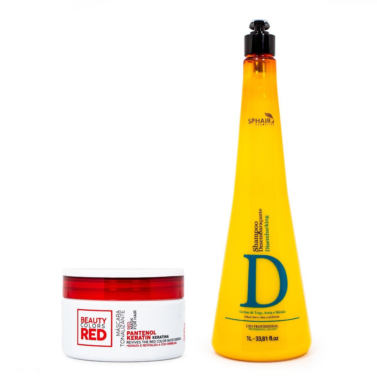 Tratamento de hidratação e cor para cabelos vermelhos