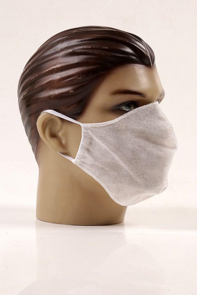 Máscaras  descartáveis branca CAIXA COM 100 UNIDADES de TNT não tecido