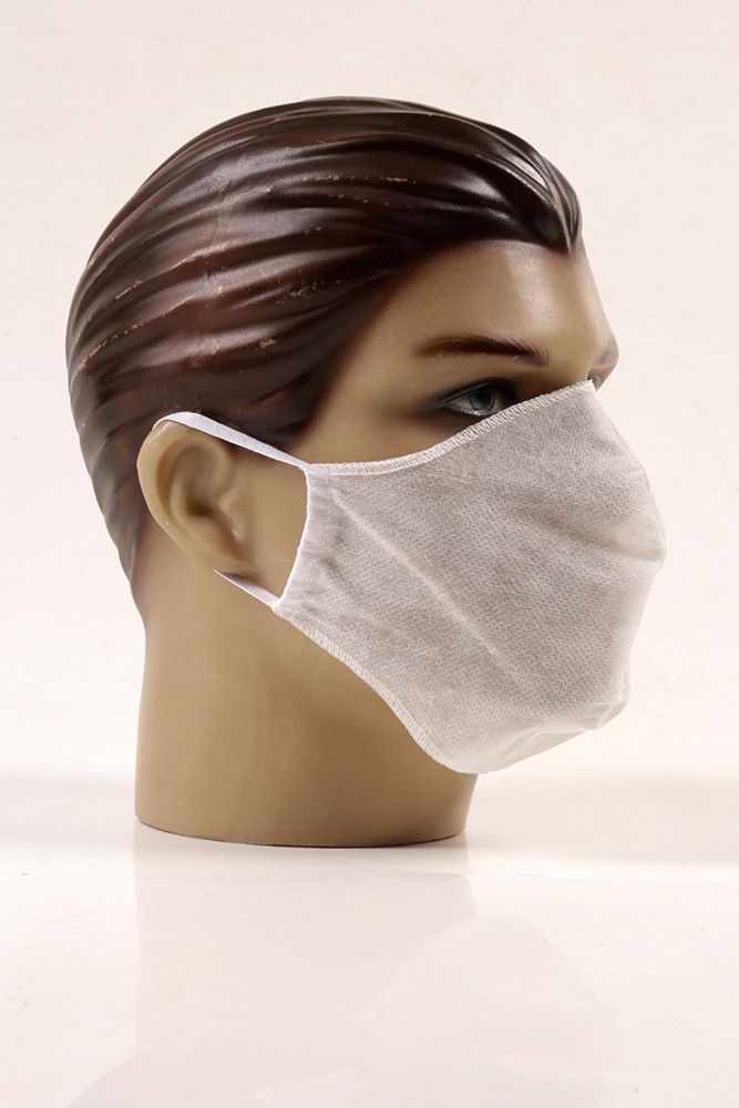 Máscaras  descartáveis branca caixa com 10 unidades TNT 40 não tecido