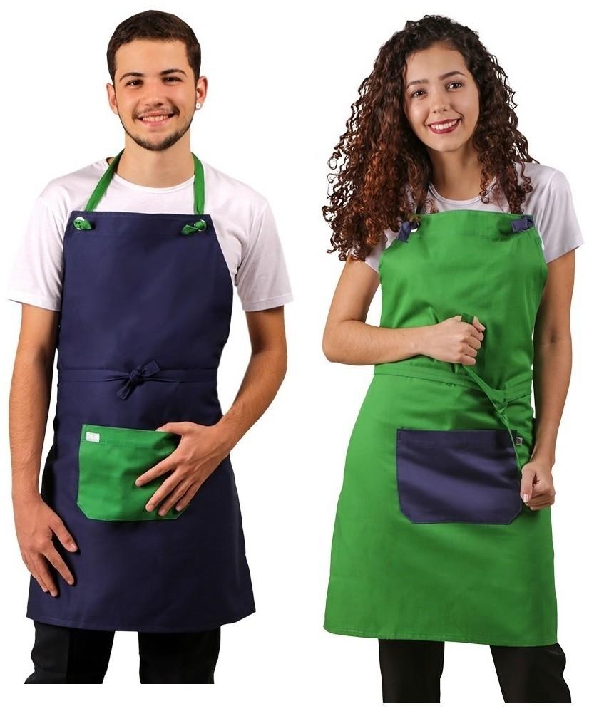 2 Aventais Masterchef em Brim, Conferir Cores Disponíveis Blanco Raro