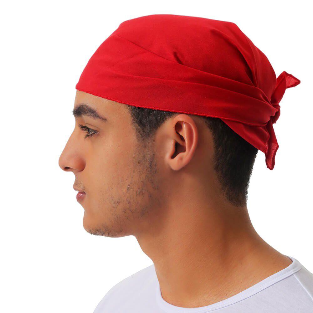 Bandana vermelha em tricoline Blanco Raro