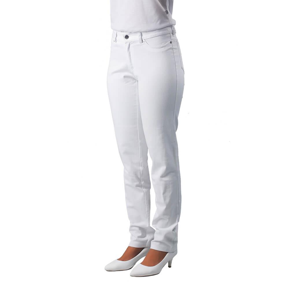 Calça feminina BRANCA tradicional STRAIGHT  Blanco Raro