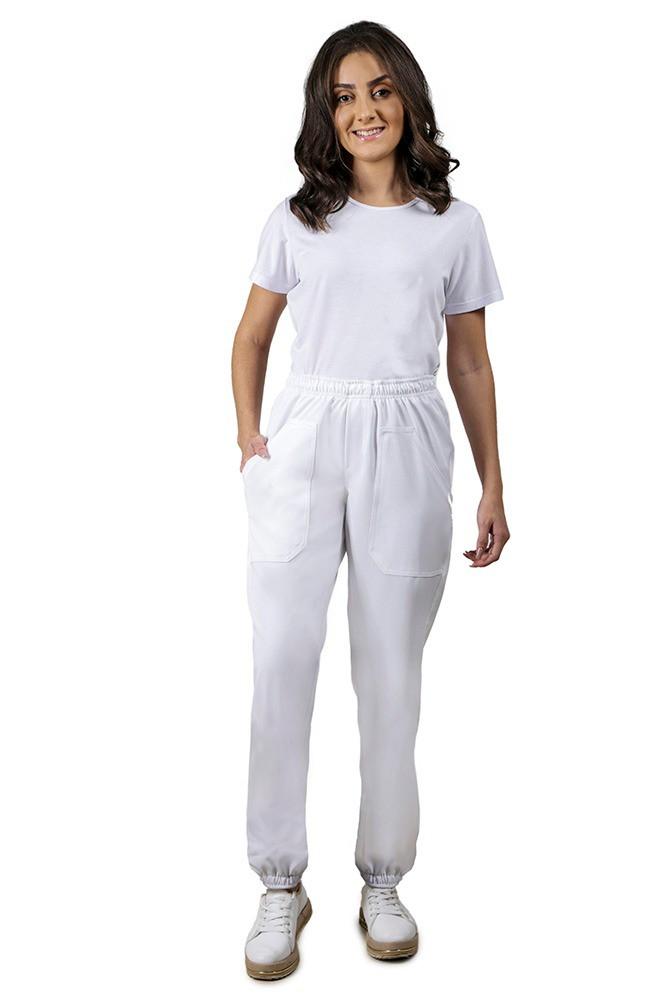 Calça feminina  BRANCA TWO WAY com elástico Blanco Raro