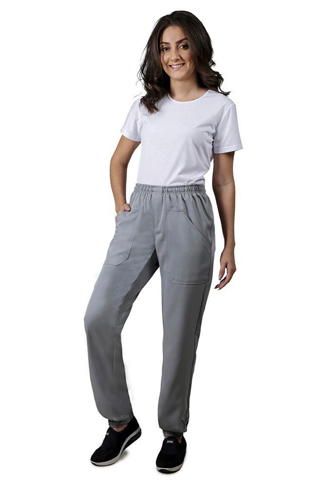 Calça feminina  CINZA TWO WAY com elástico Blanco Raro