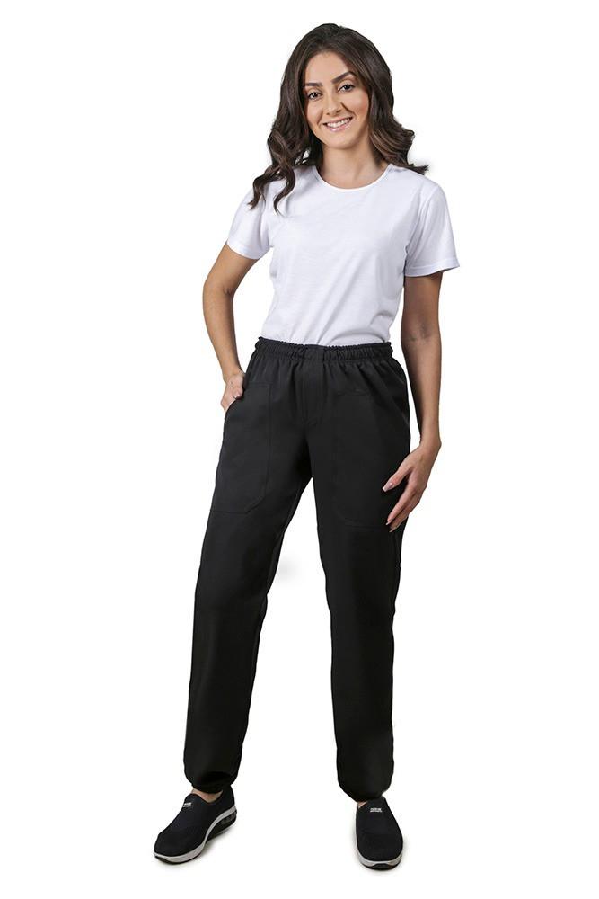 Calça feminina  PRETA TWO WAY com elástico Blanco Raro