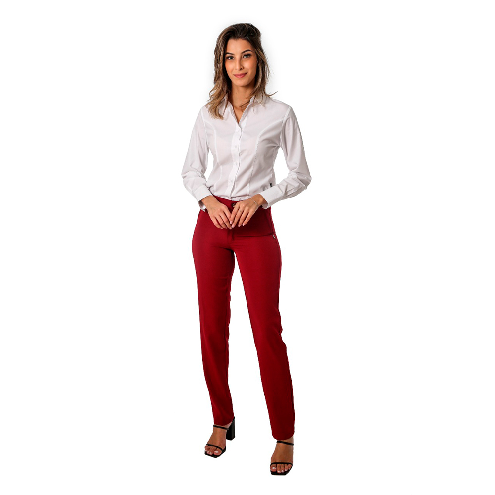 Calça feminina SOCIAL marsala  Blanco Raro